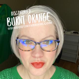 Burnt Orange LipSense on ME