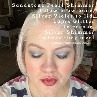Sandstone Pearl Shimmer ShadowSense, Silver VIolet ShadowSense, Lapis Glitter ShadowSense, Silver Shimmer ShadowSense