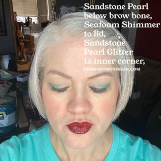 Sandstone Pearl Glitter ShadowSense, Seafoam Shimmer ShadowSense, Sandstone Pearl ShadowSense