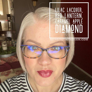 LipSense Mixology, Lilac Lacquer LipSense, Red Lantern LipSense, Caramel Apple Diamond Lipsense