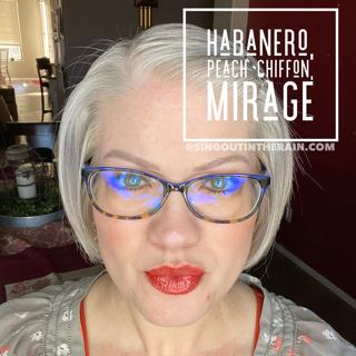 Habanero LipSense, Mirage Lipsense, Lipsense Mixology, Peach Chiffon LipSense