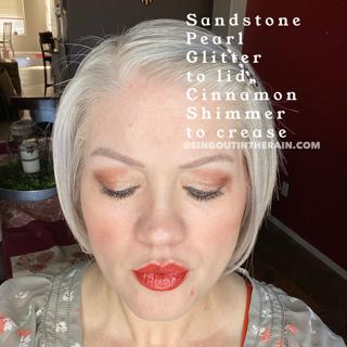Sandstone Pearl Glitter ShadowSense, Cinnamon Shimmer ShadowSense