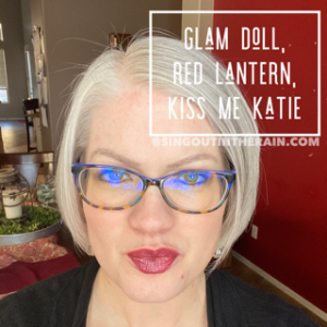 Glam Doll Lipsense, Kiss me Katie LipSense, Red Lantern LipSense, LipSense Mixology