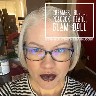 Creamer LipSense, Blu J LipSense, LipSense Mixology, Peacock Pearl LipSense, Glam Doll LipSense