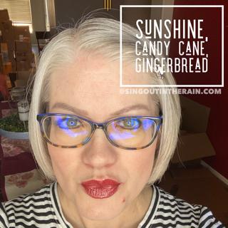 Candy Cane LipSense, LipSense Mixology, Sunshine LipSense, Gingerbread LipSense