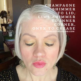 Onyx ShadowSense, Champagne Shimmer ShadowSense, Lime Shimmer ShadowSense
