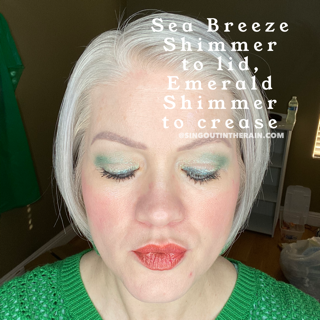 Sea Breeze Shimmer ShadowSense, Emerald Shimmer ShadowSense