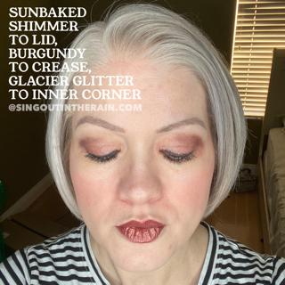 sunbaked shimmer shadowsense, Burgundy ShadowSense, Glacier Glitter ShadowSense