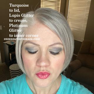Turquoise ShadowSense, Lapis Glitter ShadowSense, Platinum Glitter ShadowSense
