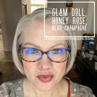 Glam Doll LipSense, LipSense Mixology, Honey Rose LipSense, Beige Champagne LipSense