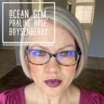 Ocean Gem LipSense, Praline Rose LipSense, LipSense Mixology, Boysenberry LipSense