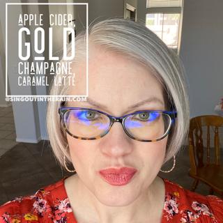 LipSense Mixology, Apple Cider LipSense, Gold Champagne LipSense, Caramel Latte LipSense
