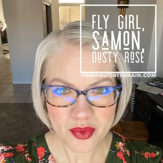 Fly Girl LipSense, LipSense MIxology, Samon LipSense, Dusty Rose LipSense