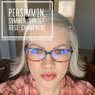 LipSense Mixology, Persimmon LipSense, Summer Sunset LipSense, Rose Champagne LipSense