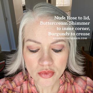 Nude Rose ShadowSense, Buttercream ShadowSense, SeneGence ShadowSense, Burgundy ShadowSense