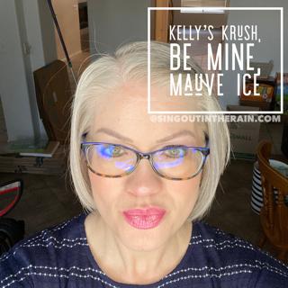 Kelly's Krush LipSense, Be Mine LipSense, LipSense Mixology, Mauve Ice LipSense