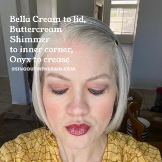 Bella Cream ShadowSense, SeneGence ShadowSense, Buttercream Shimmer ShadowSense, Onyx ShadowSense