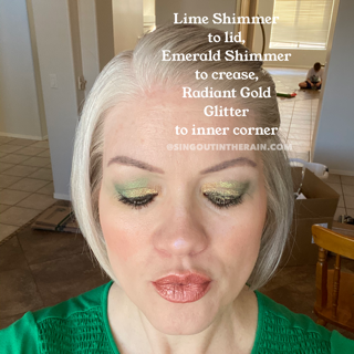 Emerald Shimmer ShadowSense, Radiant Gold Glitter ShadowSense, Lime Shimmer ShadowSense