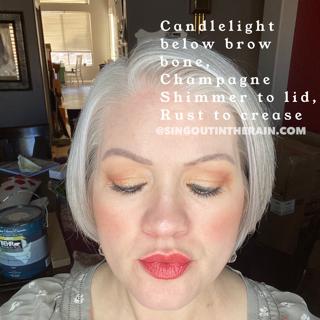 Champagne Shimmer ShadowSense, Rust ShadowSense, Candlelight ShadowSense