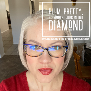 Plum Pretty LipSense, Persimmon LipSense, Crimson Red Diamond LipSense,
