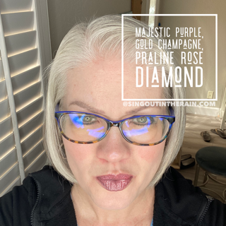 Majestic Purple LipSense, Gold Champagne LipSense, Praline Rose Diamond LipSense