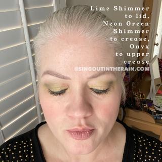 Lime Shimmer ShadowSense, Neon Green Shimmer ShadowSense, Onyx ShadowSense