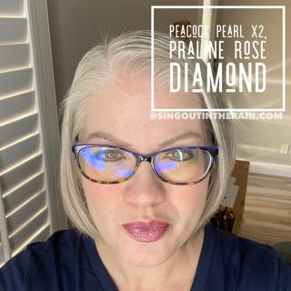 Peacock Pearl LipSense, Praline Rose Diamond LipSense