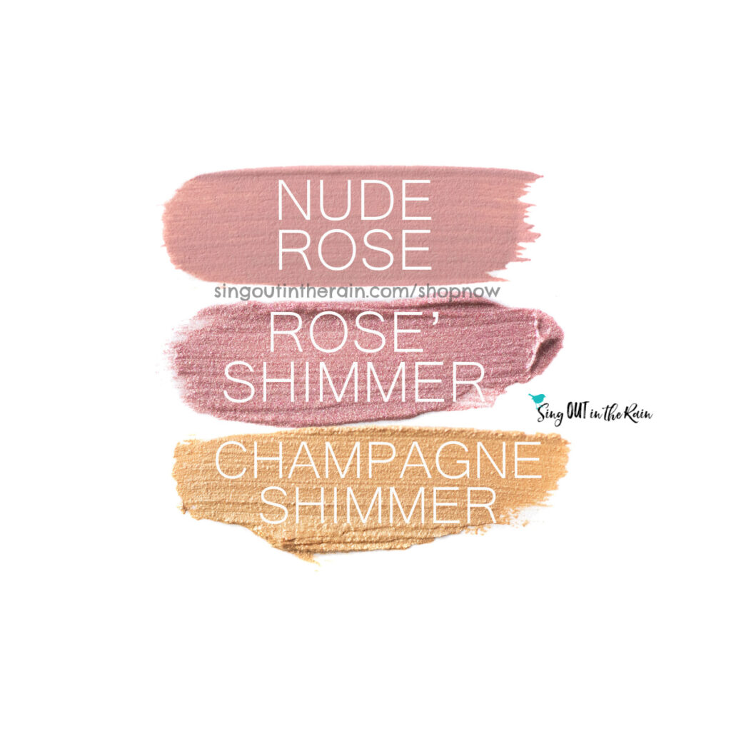 Nude Rose ShadowSense, Rose Shimmer ShadowSense, Champagne Shimmer ShadowSense