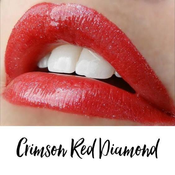 crimson red diamond lipsense