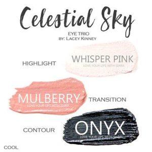 Celestial Sky ShadowSense Trio, whisper pink shadowsense, mulberry shadowsense, onyx shadowsense