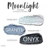 Moonlight shadowsense trio, silver shimmer shadowsense, granite shadowsense, onyx shadowsense