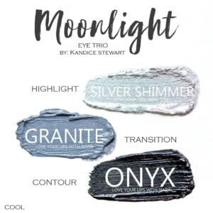 Moonlight shadowsense trio, silver shimmer shadowsense, granite shadowsense, onyx shadowsense