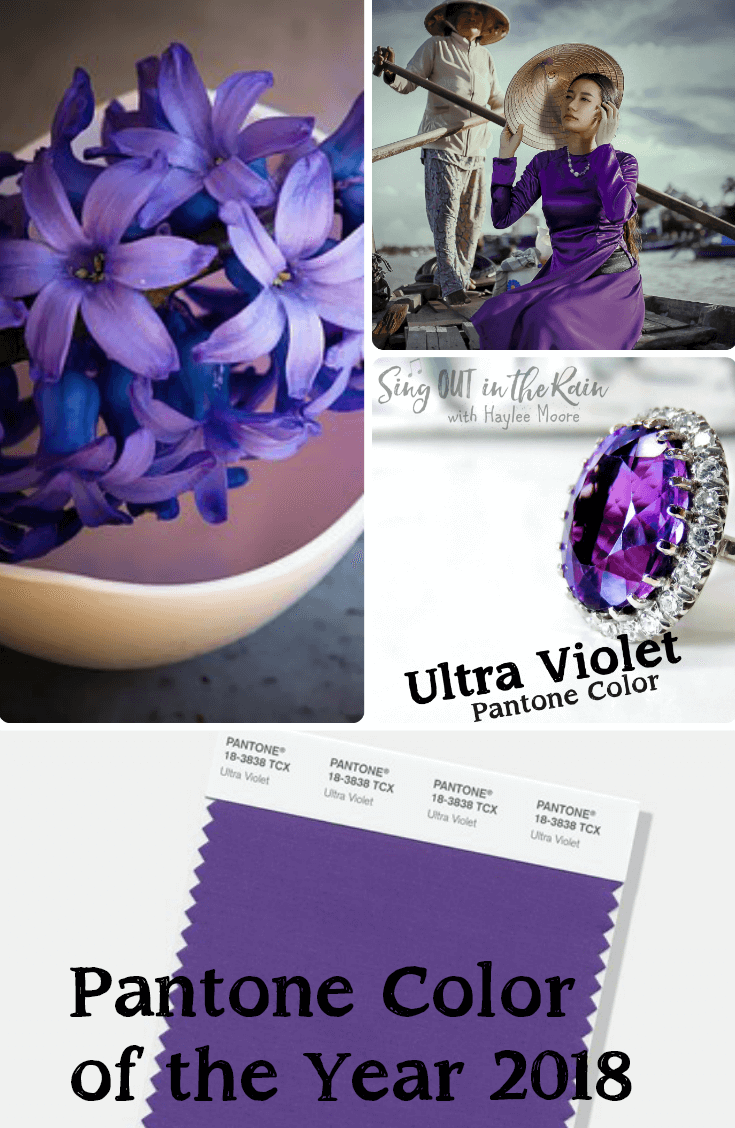 Every year Pantone presents it\'s color of the year.  For 2018 the color is Ultra Violet.  The color trends determine fashion, decor and even makeup.  Click here to see a short video on how THIS color was chosen.  #purple #pantone #color #ultraviolet #coloroftheyear #pantonecolor