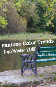 PI - Pantone Color Trends fall winter 2018