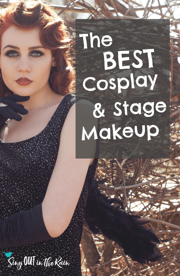 If you are looking for the PERFECT costume, stage, theatre, pageant makeup for kids or adults - THIS IS IT!!  This easy to use makeup will last LONGER than the performance - no touch-ups needed.  Click to watch a 20 second video of an actor rubbing her face and nothing coming off!!!  #cosplay #makeup #stagemakeup #theatremakeup #dragqueen #costumemakeup