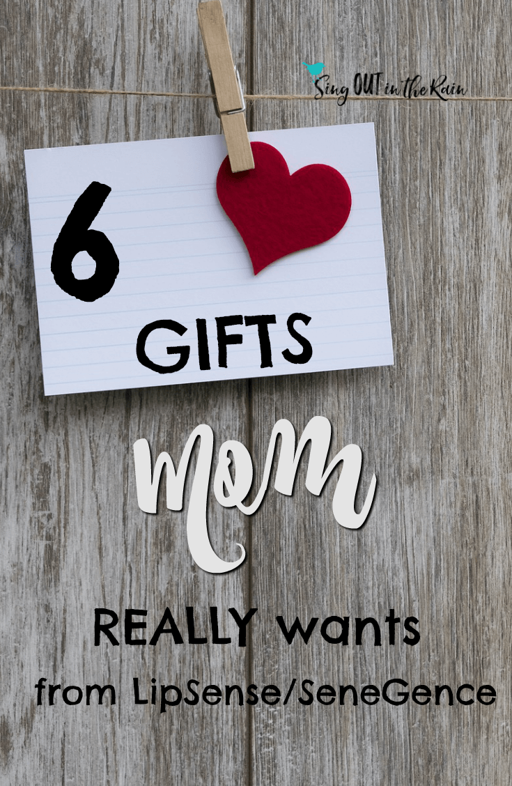Finding gifts for mom who has everything can be tricky.  Whether shopping for birthday, christmas, or mothers day - unique ideas to buy are hard to come by.  This year get mom what she really wants - LipSense & SeneGence.  #lipsense #giftsformom #senegence #giftideas