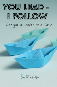 leader or boss, leader or follower