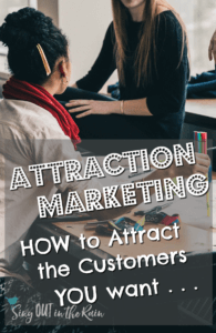 attraction marketing for small business, attraction marketing for direct sales