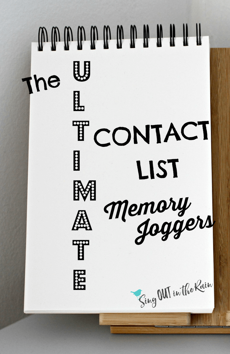 When starting a direct sales business - it is smart to begin by making a list of people you know!  Often your best referrals, recruiting, success and tips will come from this core group close to home. This list will help jog your memory so you don\'t leave anyone out!   #memory #contacts #directsales #contactlist #makealist #people