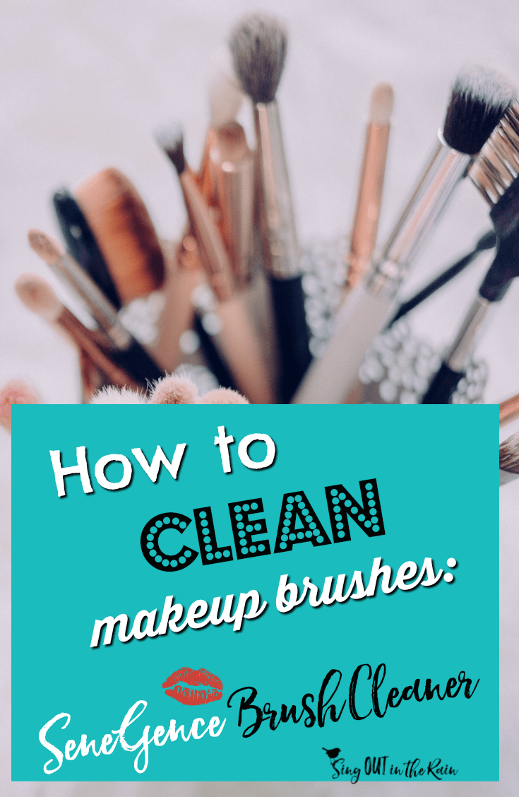 Are you wondering HOW to properly clean makeup brushes at home - the right way?  This is easy and will also work for those with the most sensitive skin.  Plus, it\'s the best makeup brush cleaner out there!  #makeup #makeupartist #makeupbrushes #mua #mommakeup