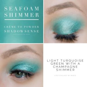 seafoam glitter shadow