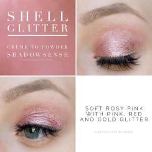 Shell glitter shadow