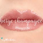 sweatproof makeup, long lasting makeup, beige champagne lipsense