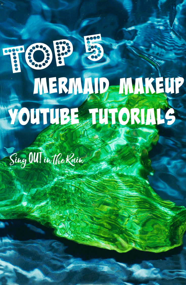 Top 5 Mermaid makeup tutorials on YouTube.  Get the perfect makeup to match your Halloween costume.  Whether you are looking for an easy tutorial or a pretty one with beautiful scales - your fantasy mermaid is just around the corner!  #mermaid #halloween #mermaidmakeup #youtube #makeuptutorial