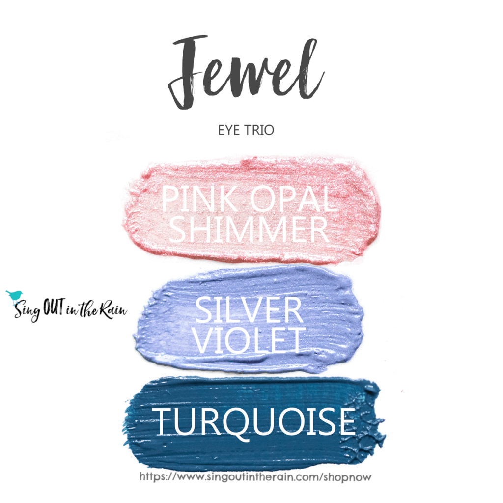 Jewell ShadowSense Eye Trio, pink opal shimmer shadowsense, silver violet shadowsense, Turquoise shadowsense