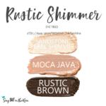 Rustic Shimmer Shadowsense eye trio