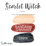Candlelight Shadowsense, bandana shimmer shadowsense, onyx shadowsense, Scarlet Witch ShadowSense Eye Trio