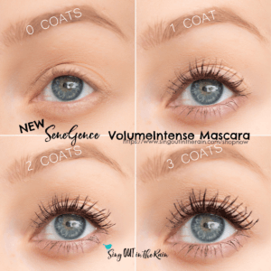 sweatproof makeup, long lasting makeup, SeneGence volumeintense mascara