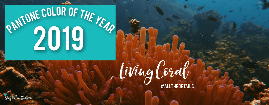 Pantone 2019 Color of the Year : Living Coral