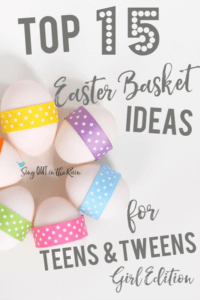 Easter basket ideas for tweens, Easter basket ideas for teens, unique easter basket ideas, creative easter basket ideas
